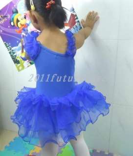 3Color Girl Party Leotard Ballet Tutu skate SZ3 9Y