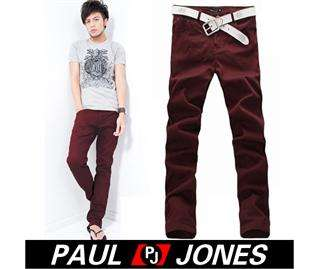 PJ Mens Casual cotton Rivet Long Straight Fashion Pants/Trousers, 5CL