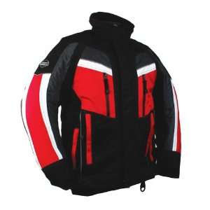 Gl 3 Jacket Mens   Black & Red Large Automotive