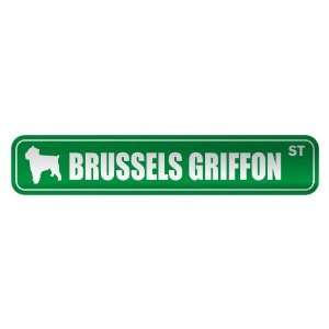 BRUSSELS GRIFFON ST  STREET SIGN DOG