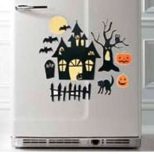 Halloween Spooky House Large Magnet Set for Your Fridge