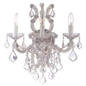 Flow Collection Polished Chrome Finish 3 Lights Chandelier Home