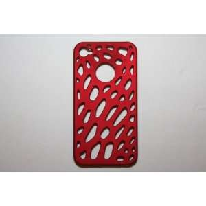 Mesh Net Apple iPhone Case Cover for iphone 4 4G, Hard Plastic Red Net