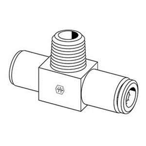 MPT 150psi Brass Air Brake Fitting Male Branch Tee