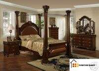 FOUR POST CANOPY KING BED BEDROOM SET SETS FURNITURE