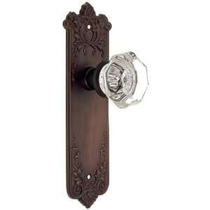 Wrought Bronze Door Set With Octagonal Glass Door Knobs