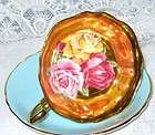 NC West Germany Fragonard Love Story Gold Bowl Tea Cup and Saucer