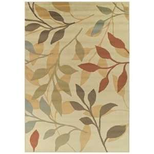 Tremont Collection Leaflets Ivory Area Rug