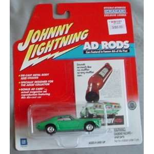 Johnny Lightning Ad Rods 1971 Chevy Camaro RS GREEN Toys & Games