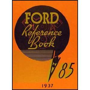 1937 Ford Car & Pickup Owners Manual Reprint 85hp Ford