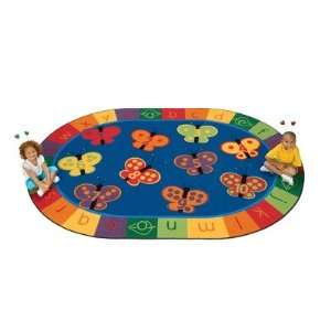 Carpets for Kids 35XX 123 ABC Butterfly Fun Rug Size 310