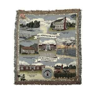 Historic Bladen County North Carolina Afghan Throw