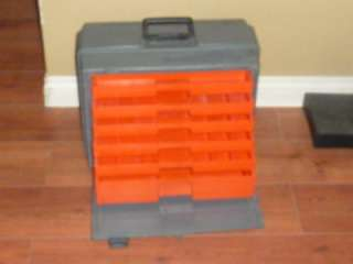 DUTY FLAMBEAU FISHING TACKLE & BAIT BOX/CASE W/PULL OUT DRAWERS/TRAYS