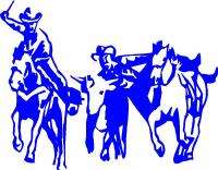 Steer Wrestling Western/Rodeo Sticker,Graphic,Decal