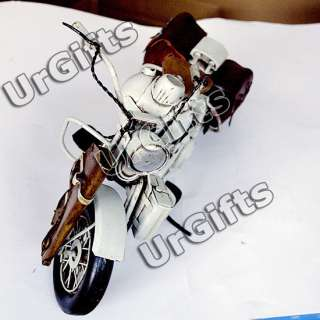 Made Metal Art Bar Decor 1/6 Harley Davidson Motorcycle GRAY