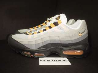 2010 Nike Air Max 95 WHITE MANDARIN ORANGE GREY DS 11