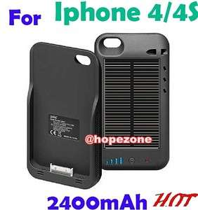 Environmental Solar External Backup Battery Case Charger 2400mAh