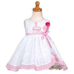 Sophias Style Baby Girls White Birthday Dress