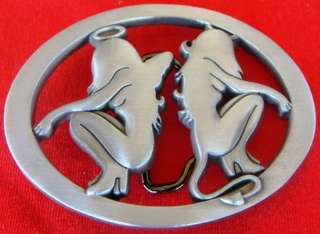 Angel and Devil Two Girls Belt Buckle   New
