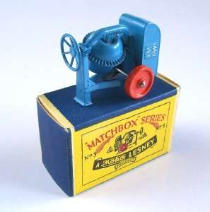 MATCHBOX MOKO LESNEY 3 CEMENT MIXER, RARE, 1953, MIB