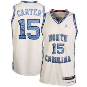 Nike North Carolina Tar Heels (UNC) #15 Vince Carter White Twilled
