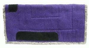 PURPLE Western Show Trail Barrel Saddle Pad Felt Back