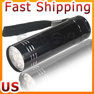 LOT OF 5 SUPERBRIGHT 9 LED TORCH FLASHLIGHT LAMP LIGHT
