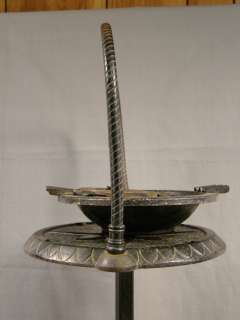 Antique ART DECO Old CAST IRON Footed SMOKING Butler STAND Ashtray