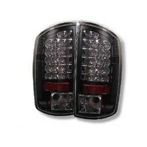 02 05 Dodge Ram LED Tail Lights   JDM Black Automotive