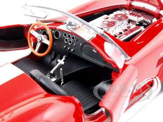 1965 SHELBY COBRA 427 S/C RED 124 DIECAST MODEL CAR