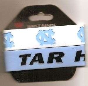 New UNC North Carolina Tar Heels Logo 2 Pack PVC Silicone Rubber Wrist