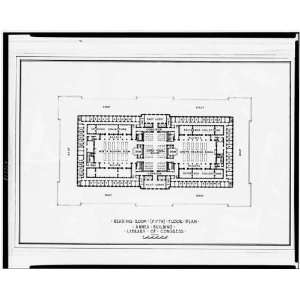 Library of Congress (Annex Building), floor plan 1936