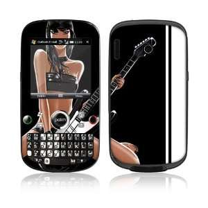 Guitar Girl Protector Decal Skin Sticker for Palm Treo Pro