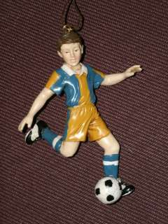 Kurt Adler Boy Soccer Ornament *New With Tag Great Gift
