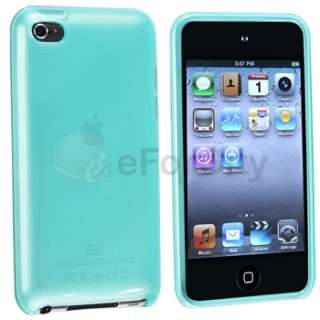 Light Blue Clear TPU Rubber Gel Hard Case Cover Skin For iPod Touch