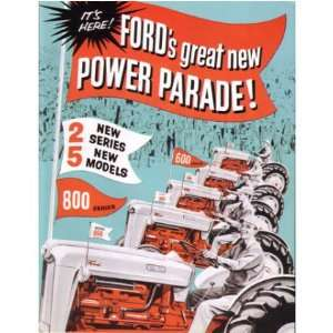 1957 1962 FORD TRACTOR Series 600 800 Sales Brochure