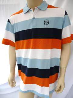 Sergio Tacchini Mens IMPERIAL Polo T Shirt Blue/Blue/White Size S,M,L