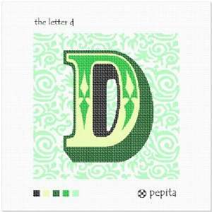 The Letter D Needlepoint Canvas Arts, Crafts & Sewing