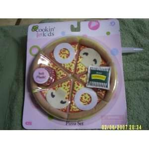 COOKIN FOR KIDS SOFT AND PLUSH PIZZA SET Toys & Games