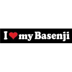 8 I Love My Basenji Dog Lover Vinyl Die Cut Decal Sticker