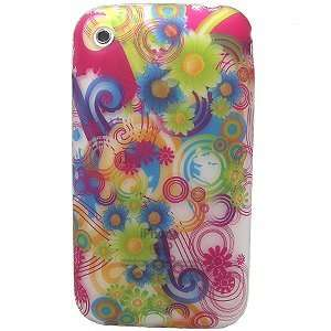 GREEN BLUE RAINBOW FLOWER SOFT SILICONE SKIN GEL COVER CASE FOR APPLE