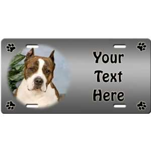 American Staffordshire Terrier Personalized License Plate
