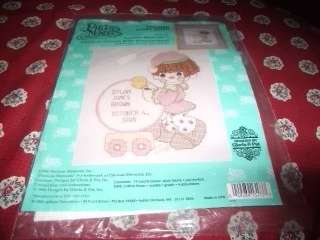 NEW PRECIOUS MOMENTS COUNTED CROSS STITCH BABY ARRIVAL