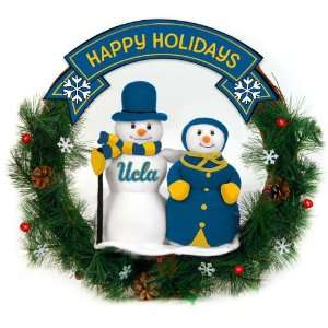 20 NCAA UCLA Bruins Happy Holidays Snowman Couple