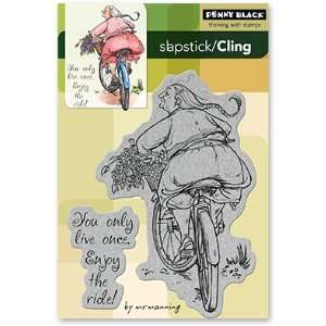 Penny Black Cling Rubber Stamp 4X6 Enjoy The Ride Arts