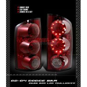 Dodge Ram Led Tail Lights Red Smoke LED Taillights 2002 2003 2004 2005