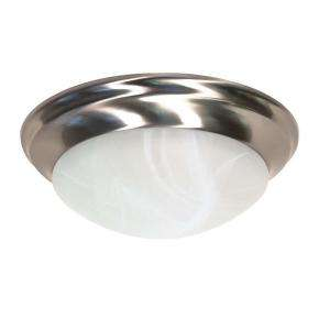 Find a Green Matters 2 Light Flush Mount Brushed Nickel Light Fixture