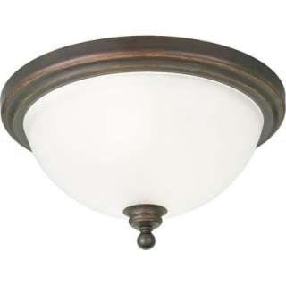 Progress Lighting Madison Collection Antique Bronze 2 light Flushmount
