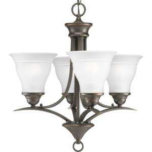Progress Lighting Trinity Collection Antique Bronze 4 Light Chandelier