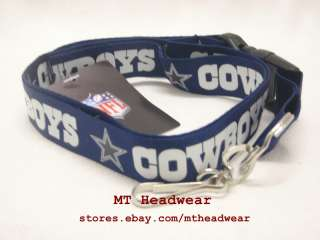 OFFICIAL LICENSED NFL LANYARD ***DALLAS COWBOYS NAVY*** KEYCHAIN